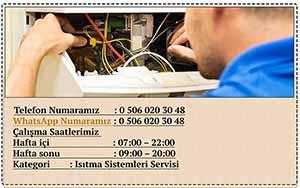 Teknik servis saatleri ve telefon ve iletişim bilgilerimiz