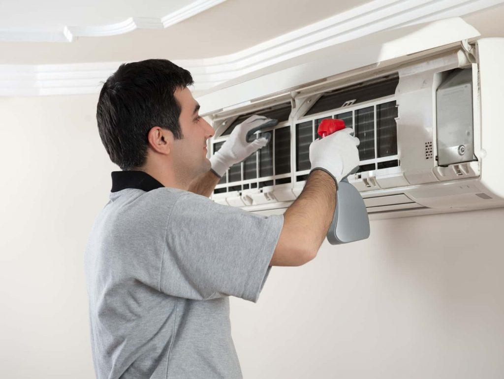 klima bakımı filtre ilaçlama işlemi